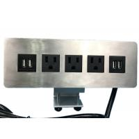 Buy cheap Edge Mount Desktop Power Outlet With USB 4 Port ,3 Outlet Power / Data from wholesalers