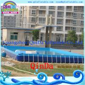 Best Guangzhou QinDa Above Ground Pool PVC Frame Pool wholesale
