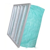 Buy cheap Green Color F6 Pocket Air Filter For Operating Room AHU from wholesalers