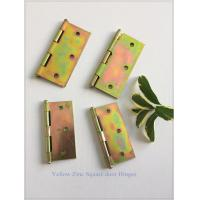 Best Zinc Plated Heavy Duty Door Hinges Wooden Packing Yellow Color 6 Pair wholesale