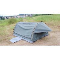 China 4WD Swag 1 Person Canvas Tent Fire Prevention Fabric Material For Outdoor Entertainment on sale