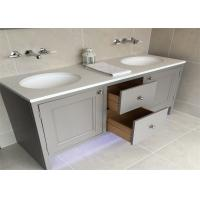 China Custom Bathroom Vanity Cabinets Paint Surface Granite Countertop Including Basin Faucet on sale