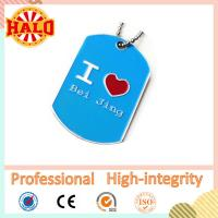 Buy cheap Heart shape name dog tag thick sublimation dog tag keychain product