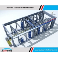 China Automatic Tunnel Car Wash machine Hot sales to America/Tunnel car washing Machine with Platform Belts Conveyor on sale