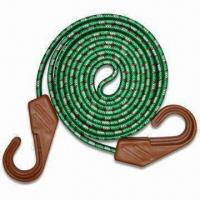 Best 17 x 60cm Rubber Flat Bungee Cord with Black Plastic Hooks, OEM Orders are Welcome wholesale