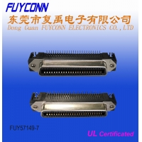 China 50pin Female PCB Right Angle Centronics RJ21 Connector for PCB Board on sale