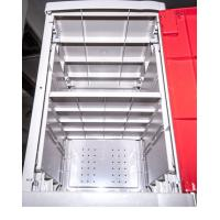 Cheap Factory Keyless ABS Plastic Lockers 5 Tier Red Door Changing Room Lockers for sale