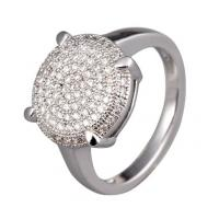 Best Cute spirituality 925 silver Rhodium plated micro pave setting western jewelry rings wholesale