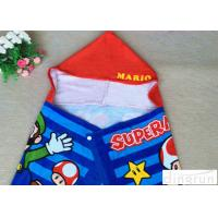 China Plain Style Poncho Swimming Towels , Childrens Hooded Beach Towels Various Size on sale