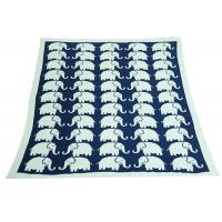 Best Elephant Pattern Knitted Knitted Wool Blanket For Home Decoration wholesale