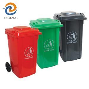 Best 100LGarbage bin with 2 wheel in virgin plastic material garbage bin with wheels wholesale