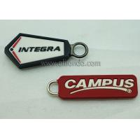 Best Wholesale Custom Embossed Name Logo Eco Friendly Soft Plastic Rubber PVC Zipper Pullers for Jackets wholesale
