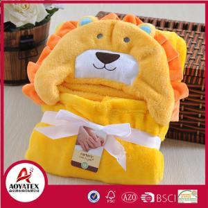 China Super Cute Cartoon pattern Baby Fleece Blanket,Different animal Head Design Swaddle Blankets on sale