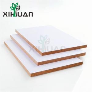 China White Melamine MDF From China Factory Melamine MDF Slatwall Panel Fiber Board MDF Manufacturer on sale