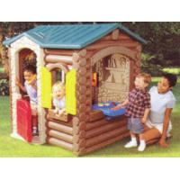China Outdoor Wooden Child Garden Cubby Play House Log Cabin on sale