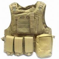 Best Tactical Vest, Made of 600D or 900D Polyester, with Pistol Pockets and Magazine Pouches wholesale