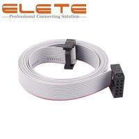 Best 2.54mm Pitch 10Pin 10 Wires Female to female IDC Connector Flat Ribbon Cable 150cm long IDC Connector wholesale