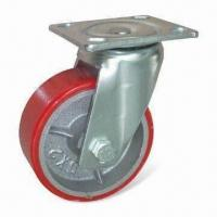 China Heavy-duty Caster, Rubber Molded Heavy-duty Caster, Available in Various Sizes on sale
