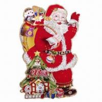 China Paperboard-made Christmas Decorations (Christmas Stickers) with Christmas Tree Picture on sale