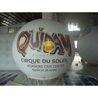 White Inflatable Advertising helium balloon with UV protected printing for Trade show