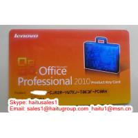Best Office 2010 Professional Lenovo card, Product key card packed with FPP key wholesale