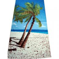 China 100% Cotton Fiber Full Reactive Printed Velour Beach Towels on sale