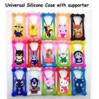 China Universal silicone phone protective case cover with supporter on sale