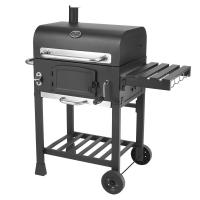 Best Classic Commercial Kitchen Equipments Barbeque Backyard Charcoal BBQ Grill Smoker With Trolley wholesale