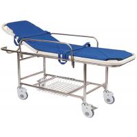 Best Manual Backrest Adjustable Patient Transport Stretcher With IV Pole , Foam Mattress wholesale