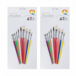 Best Pony / Bristle Hair Round Head Professional Artist Paint Brush Set wholesale