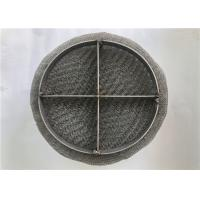 Cheap Circular / Square Wire Mesh Demister Pad High Capacity For Gas Turbine Scrubbers for sale