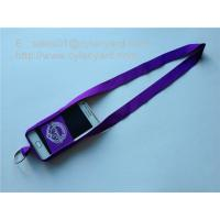 Best Small wholesale stretchable spandex mobile phone pouch lanyards with printed logo, wholesale