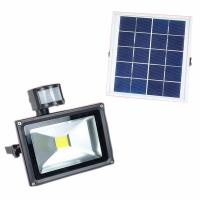 Best Camping hiking portable rechargeable Led flood light with solar panel  PIR sensor outdoor lighting wholesale