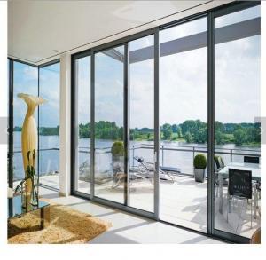 China 80x35 flat surface sliding screen door energy efficient door glass panel doors aluminum sliding door on sale