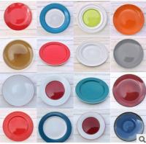 Stoneware Color Glazed Dinner Plate