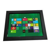 12.1 inch industrial chassis LCD touch monitor displays with VGA,DVI,HDMI input for koisk,gaming