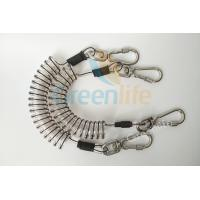 Best Core Reinforced Coil Tool Lanyard 1.5 Meters With Stainless Steel Clips wholesale