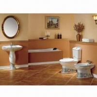 Best Three-piece Toilet, Made of Ceramic Material, Available in Green Color, Customized Logos Welcomed wholesale