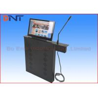 Buy cheap Automatic Microphone Computer LCD Monitor Lift With 15.6 Inch Motorized Screen product