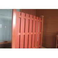 China Scratched / Smooth Decorative WPC Fence Panels For Playground And Garden on sale