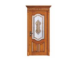 Best Industry Leading Mosaic Glass Insert Lacquer Interior China Wooden Door wholesale
