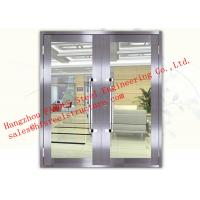 Best Galvanized Steel Fireproof Glass Fire Rated Double Doors For Shopping Mall wholesale
