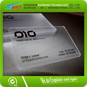 Best Custom Fashion Transparent Company PVC Business Card wholesale