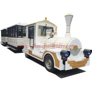 Best White Fiberglass Tourist Train Rides , Mall Train Ride Battery Type wholesale