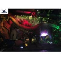 Best Full Size Garden Statues Moving Dinosaur Models With Light , Realistic Raptor Dinosaur  wholesale