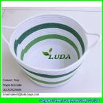 Best LUDA fabric cotton cord woven baskets striped storage bin in home wholesale
