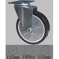 Best Plate swivel caster with PU wheel 125mmx32mm-Industrial caster wheels wholesale