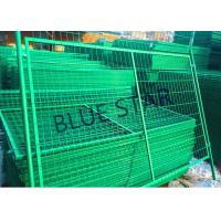 Highways Green Metal Fencing , High Strength Welded Galvanised Mesh Fencing