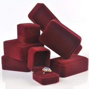 China China custom logo printed plastic velvet jewelry box wholesale on sale