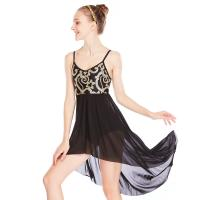Best MiDee Elegant Cami Flora Sequins Lyrical Costumes Dance Dress Gentle High-Low Skirt Competition Performance Stage Wear wholesale
